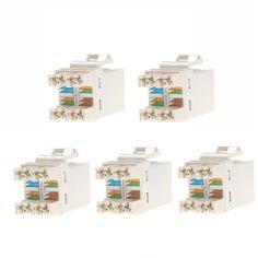 5PCS RJ45 CAT6 Module Network Cable Plugs Punch Down Ethernet Jack CAT5 CAT5e CAT6 Network Tool DIY Part Electrical Plug Adaptor #Affiliate