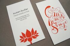 Awesome yoga business cards!