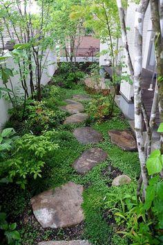 30 Perfect Small Backyard & Garden Design Ideas - Gardenholic Small Backyard Gardens, Backyard Garden Design, Diy Garden, Garden Cottage, Small Gardens, Shade Garden, Dream Garden, Garden Landscaping, Outdoor Gardens