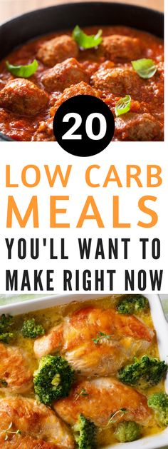 20 low carb meals you'll want to make right now - Low Carb and Keto meals are super popular right now. Here are 20 of my favorite low carb meals you'll want to make right now!