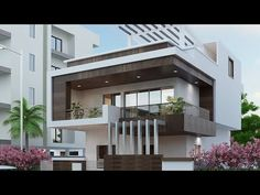 Find the best Modern & Contemporary North & South Indian (Kerala) Home Design, Home Plan, Floor Plan ideas & Interior Design inspiration to match your style. Bungalow Haus Design, Duplex House Design, House Front Design, Small House Design, Cool House Designs, Best Modern House Design, Modern Exterior House Designs, Design Exterior, Villa Design