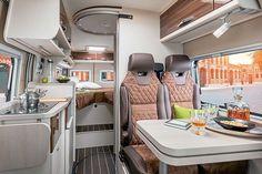 How to really enjoy your Camping Camping Car Sprinter, Mercedes Sprinter Camper, Bus Camper, Sprinter Van, Van Conversion Interior, Camper Conversion, Camper Interior Design, Luxury Motorhomes, Van Home