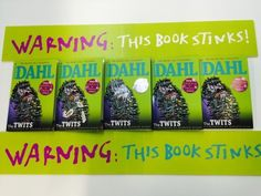 Scratch and sniff book stickers The Twits, Picture Show, Fiction, This Book, Touch, Technology, Stickers, World, Day