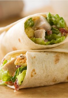 Chicken Caesar Wraps – Get your chicken Caesar salad on—in a wrap recipe! These creamy, crunchy bundles serve four in as little as 10 minutes.