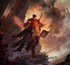 """amareverie: """"Commission: Steel Flameblade par Johndowson"""""""