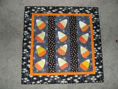 Super-Fun Candy Corn Quilt! Made by me! :)