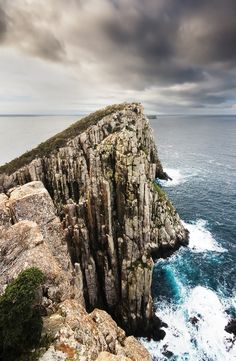 Candlestick, Cape Huay, The Tasman Peninsula, Tasmania, Australia. It is composed of Jurassic Dolerite. Tasmania has the world's largest areas of dolerite. The Places Youll Go, Places To See, Bruny Island, Australia Travel, Visit Australia, Amazing Nature, Beautiful Landscapes, New Zealand, Travel Inspiration