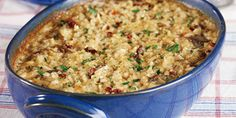 This simple-to-prepare, oven-baked risotto gets a wonderfully smooth and creamy flavor from cream of mushroom soup, Parmesan cheese and sun-dried tomatoes. (baked pasta with chicken ovens) Baked Risotto Recipes, Oven Baked Risotto, Chicken Risotto, Chicken Sausage, Rice Side Dishes, Pasta Dishes, Risotto Dishes, Main Dishes, Side Dish Recipes