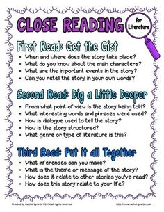 """Close reading freebie that will work with any fictional story or book.  Includes a poster, bookmarks, 3 graphic organizers, 3 text evidence writing prompts and 6 """"talk time"""" cards for group discussion."""