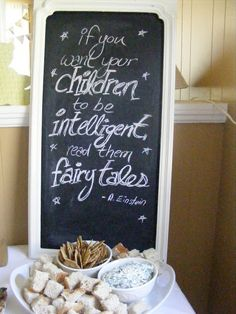 The Complete Guide to Imperfect Homemaking: A Storybook Baby Shower -- Love this sign at the entrance