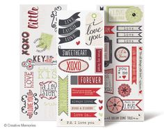 P.S. I Love You Title Stickers from Creative Memories. Available through February 2013, while supplies last!