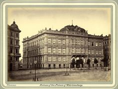 Unknown - Palace of Prince Philip of Württemberg, 1865 Prince Philip, Vienna, Old Photos, Palace, Louvre, Building, Travel, Antique Photos, Voyage