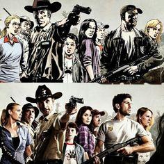 The Walking Dead comic vs. show.