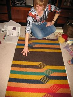 Seeing is learning - rug weaving finesse at a Study Group