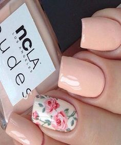 Nude Nail Art Design | Image Valley