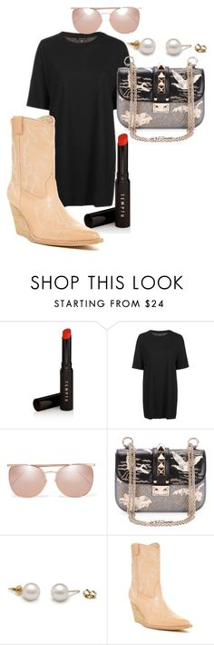 """""""Untitled #136"""" by ruxandraanita on Polyvore featuring Temptu, Topshop, Linda Farrow, Valentino and Jeffrey Campbell"""