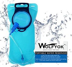 Wolfyok Hydration Bladder Water Reservoir Pack  Portable 2 Liter 70oz Water Storage Bladder Bag for Backpacking Hiking Camping Hunting with Shutoff Valve FDA Approved BPA Free Taste Free ** Be sure to check out this awesome product.