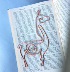 Llama bookmark in copper by TheSalvagedEdge on Etsy