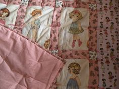 Paper Doll Quilt: I can see my daughter loving this...anybody want to make it for me?