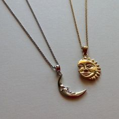 Live by the sun love of the moon. This unique sun & moon necklace set Live by the sun love of the moon. This unique sun & moon necklace set The post Live by the sun love of the moon. This unique sun & moon necklace set appeared first on Star Elite. Moon Jewelry, Cute Jewelry, Jewelry Sets, Jewelry Accessories, Jewelry Necklaces, Diamond Necklaces, Jewlery, Grunge Accessories, Baby Jewelry