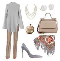 """""""Day Wear"""" by jamesj0618 on Polyvore featuring MaxMara, Gianvito Rossi, Blue Nile, Chanel, Dolce&Gabbana and Elgin"""