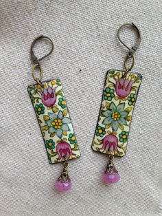 Tin Jewelry Earrings Mingled Tin for the Ten Year by TheMadCutter