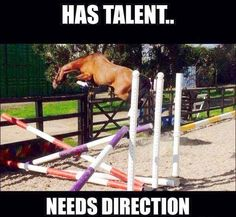 His talent needs direction!