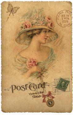María Cielo: Postales de damas victorianas
