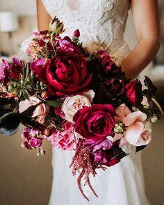 Wedding Bouquet Ideas & Inspiration ❤ wedding bouquet ideas with burgundy roses and orchids natasjakremers via instagram #weddingforward #wedding #bride