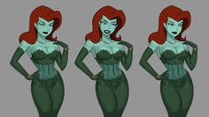 Dc Comics Girls, Dc Comics Superheroes, Dc Comics Art, Dc Poison Ivy, Poison Ivy Dc Comics, Female Cartoon Characters, Dc Comics Characters, Dope Cartoon Art, Girl Cartoon