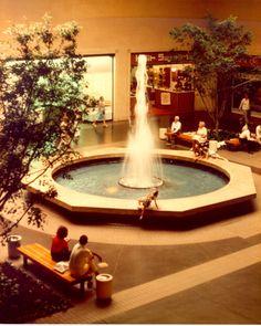 Northpark Mall, outside Joskes Department Store, Dallas, Texas. circa 1980.