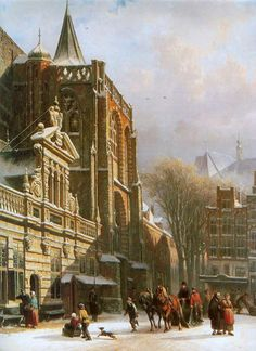 St. Michael's Church in Zwolle, by Cornelis Springer