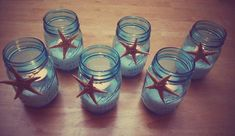Beach themed party votives