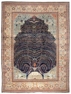WHERE THE LINE OF THE HORIZON MEETS THE SEA..... — An exquisite antique TABRIZ….