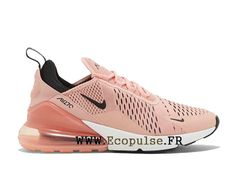 another chance 7f10d ee0ec Chaussures Nike Air Max 270 Flykni Gs Coussin dair classique Femme Beige  Pink AH6789 600-Voir