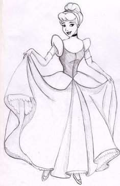 Cinderella Pencil Drawing is the oldest contact form of excellent arts along with also plays a significant purpose in other forms of visual art like o. Cinderella Sketch, Disney Princess Sketches, Disney Drawings Sketches, Cinderella Art, Girl Drawing Sketches, Cartoon Sketches, Disney Pencil Drawings, Pencil Drawing Pictures, Pencil Sketch Images