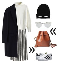"""""""Chic Style of Winter"""" by hielevencom ❤ liked on Polyvore featuring Loewe, Chicwish, adidas Originals, Fendi, MSGM, women's clothing, women's fashion, women, female and woman"""