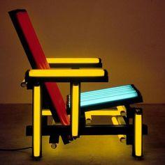 Red Blue electric chair, Ivan Navarro, 2003