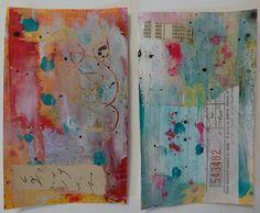 Mixed Media Index Cards by nikimaki, via Flickr