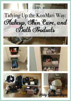 Attention Beauty Addicts! Here's a unique way to de-clutter your makeup closet.