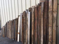 Arranged wood on a wall