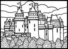 castle coloring page inkspired musings dreams of knights and castles and maidens fair - Castle Knights Coloring Pages