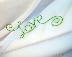 LOVE Cake Topper Lime Green Summer Wedding by HandmadeAffair, $17.00