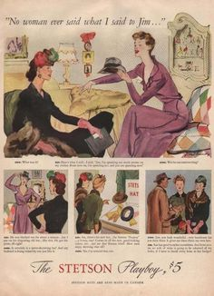 Charles BlountStetson Hats · Vintage Clothes  Fashion Ads of the 1940s  (Page 11) Playboy d77756fd2c7f
