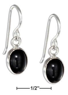f2d88f5d5 Sterling Silver w o Stone 51014: Plum Island Silver Sterling Silver Small  Oval Black Onyx Cabochon