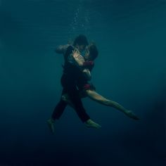 A passionate couple dances the Underwater Tango in this spectacular series by Russian artist Katerina Bodrunova.