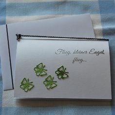"""Trauerkarte für ein verstorbenes Kind """"Schmetterlinge"""" in grün - für Kinder - Trauer- und Kondolenzkarten - Cardlove.de"""