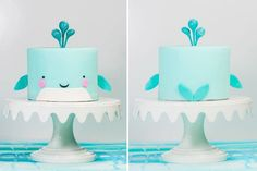 17 Under The Sea Party Food Ideas For Your Water Baby – kids baking ideas Whale Birthday Parties, Boys 1st Birthday Cake, Whale Cakes, Ocean Cakes, Baby Boy Cakes, Cakes For Boys, Meer Party Essen, Keto Valentines Day, Sea Party Food