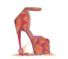 CHRISSIE MORRIS sketch spring summer 2012 orange pink shoes