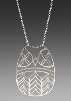 JEWELRY X REVOLVE kris nations Wise Owl Necklace in Silver at Revolve Clothing - Free Shipping!
